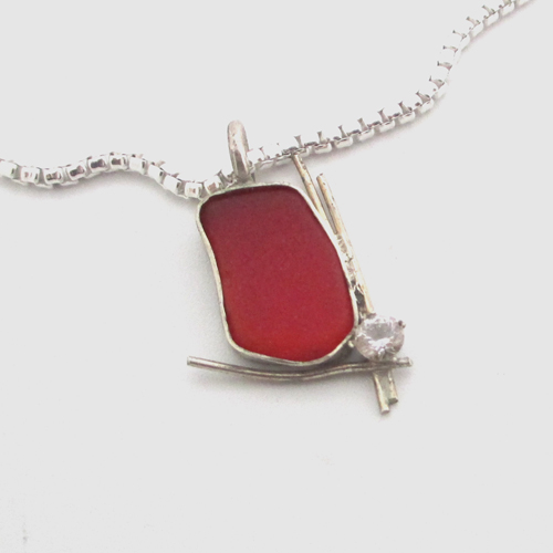 orangy red sea glass necklace_edited-1