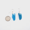 turquoise sea glass earrings 3