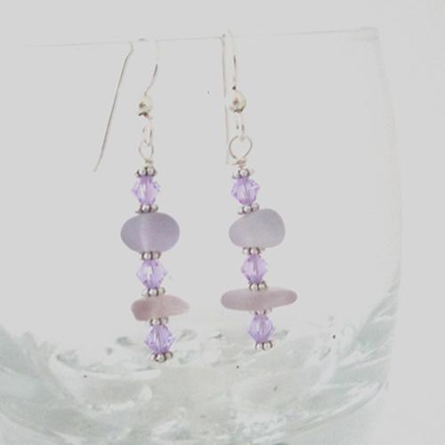 how to make sea glass earrings