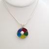 rainbow sea glass pendant 1