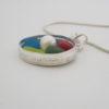 rainbow sea glass pendant 5