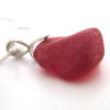 red sea glass necklace with bail3