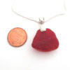 red sea glass necklace with bail7