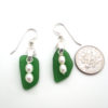 jade sea glass earrings with fresh water pears 3