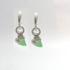 green interchangeable earrings 1