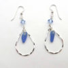 blue teardrop earrings 1