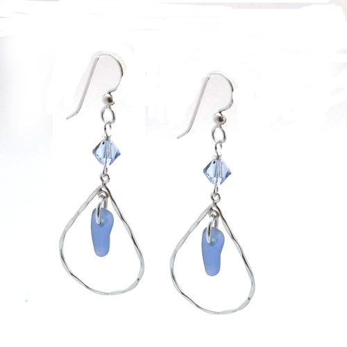 blue teardrop earrings 3