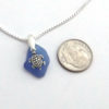 blue sea glass necklace with turtle 3