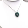 teal sea glass necklace 1