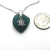 teal sea glass necklace 7