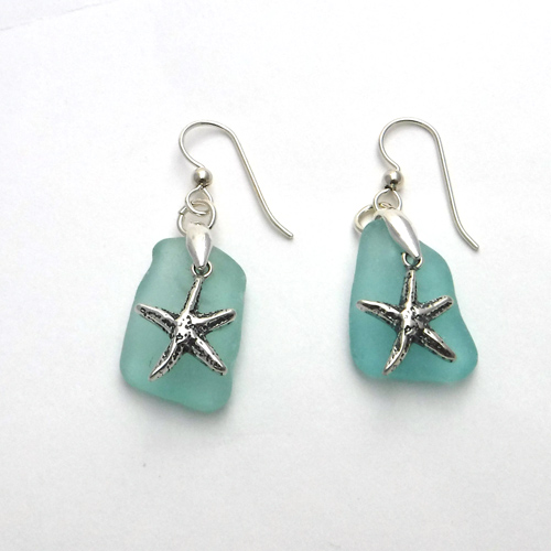 turquoise earrings with starfish 1